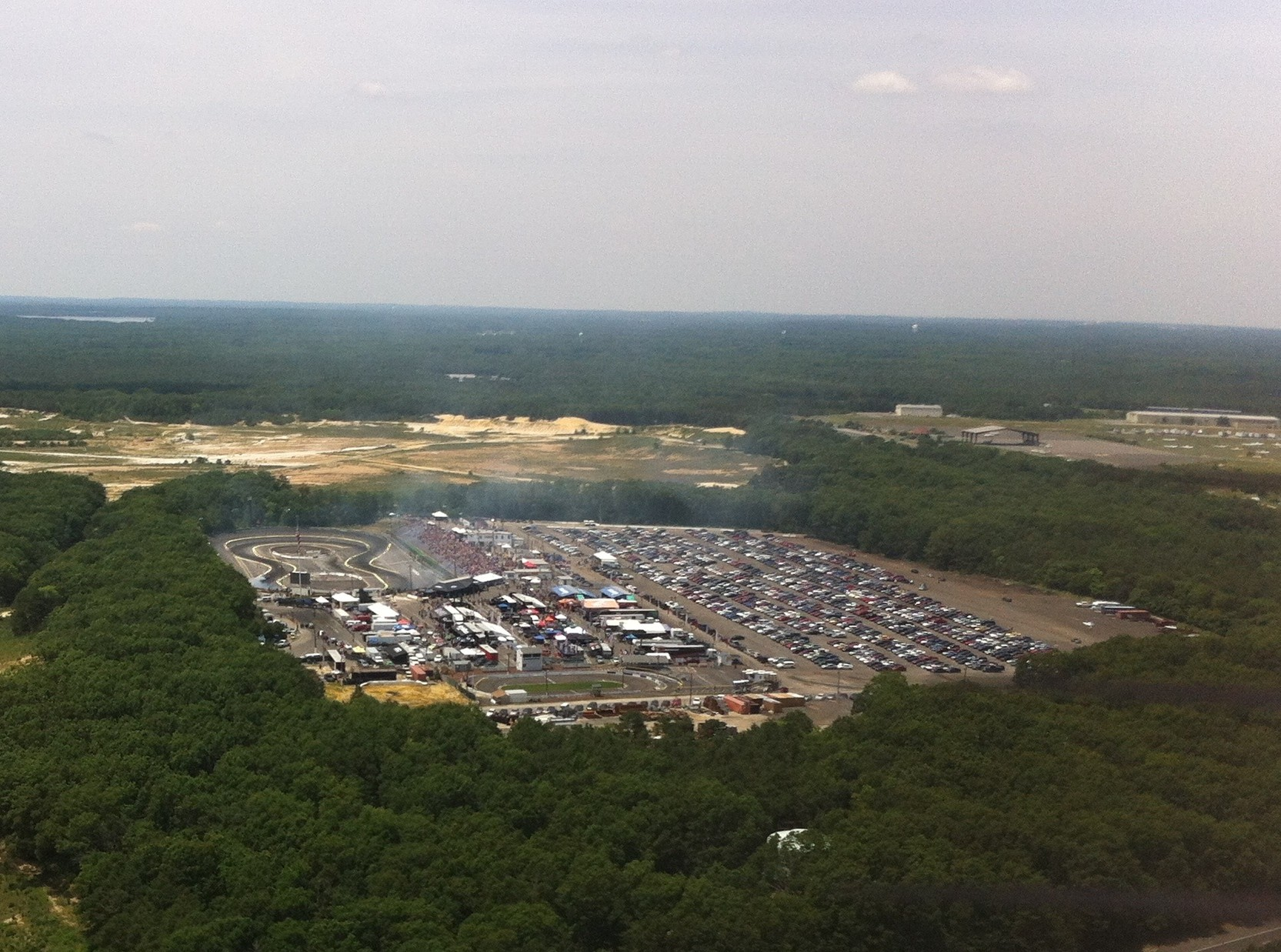 Wall Raceway, Wall NJ from the air